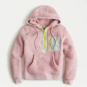 J. Crew Vintage Fleece Polartec Pink Neon Hoodie